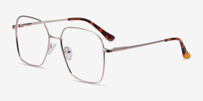 Roman Gold Metal Eyeglass Frames from EyeBuyDirect, Angle View
