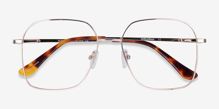 Roman Gold Metal Eyeglass Frames from EyeBuyDirect, Closed View