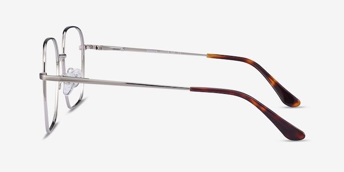 Roman Silver Metal Eyeglass Frames from EyeBuyDirect, Side View