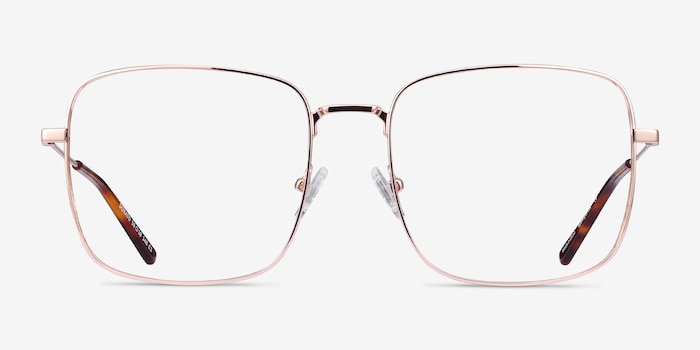 Dorato Rose Gold Metal Eyeglass Frames from EyeBuyDirect, Front View