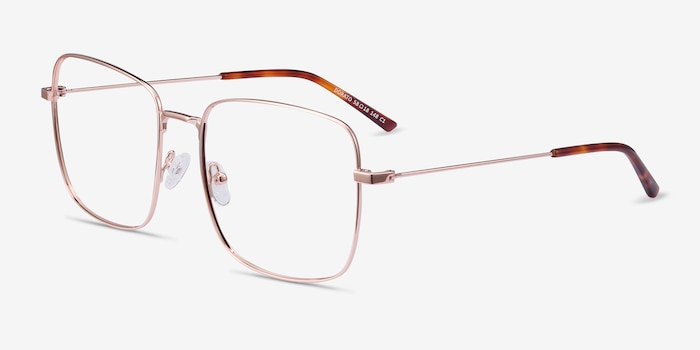 Dorato Rose Gold Metal Eyeglass Frames from EyeBuyDirect, Angle View