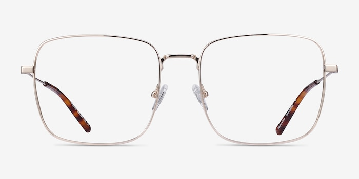 Dorato Gold Metal Eyeglass Frames from EyeBuyDirect, Front View