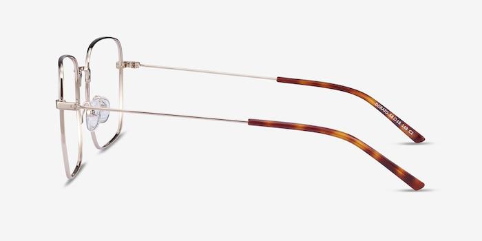 Dorato Gold Metal Eyeglass Frames from EyeBuyDirect, Side View