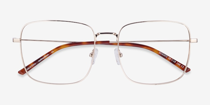 Dorato Gold Metal Eyeglass Frames from EyeBuyDirect, Closed View