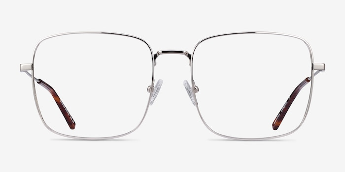 Dorato Silver Metal Eyeglass Frames from EyeBuyDirect, Front View