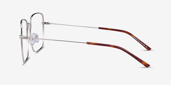 Dorato Silver Metal Eyeglass Frames from EyeBuyDirect, Side View