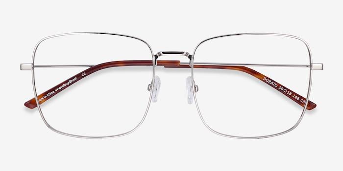 Dorato Argenté Métal Montures de Lunette de vue d'EyeBuyDirect, Vue Rapprochée