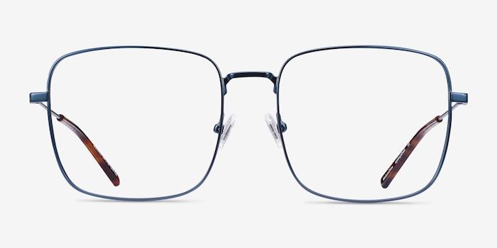 Dorato Navy Metal Eyeglass Frames from EyeBuyDirect, Front View