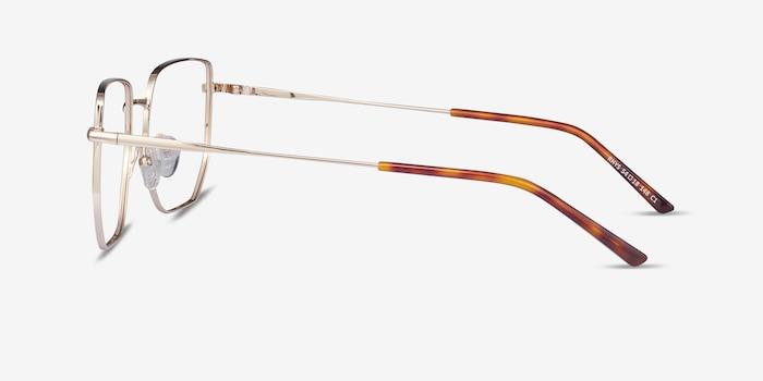 Rhys Gold Metal Eyeglass Frames from EyeBuyDirect, Side View
