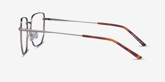 Rhys Gunmetal Metal Eyeglass Frames from EyeBuyDirect, Side View