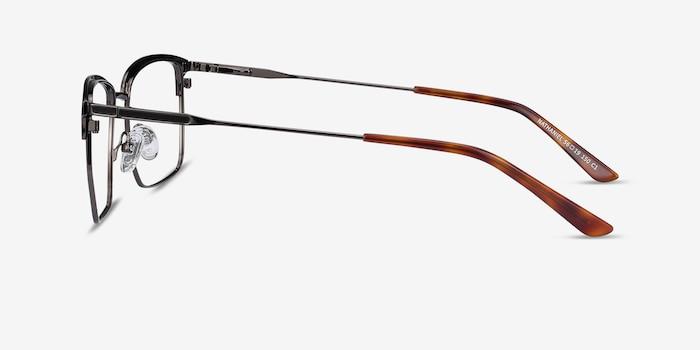 Nathaniel Black Metal Eyeglass Frames from EyeBuyDirect, Side View