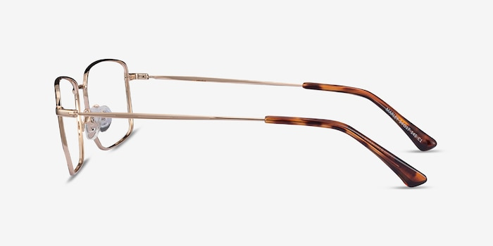 Marley Black Gold Metal Eyeglass Frames from EyeBuyDirect, Side View