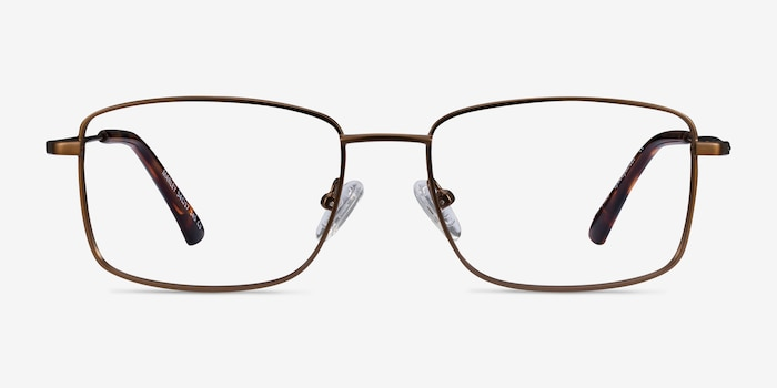 Marley Bronze Metal Eyeglass Frames from EyeBuyDirect, Front View