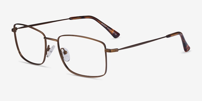 Marley Bronze Metal Eyeglass Frames from EyeBuyDirect, Angle View