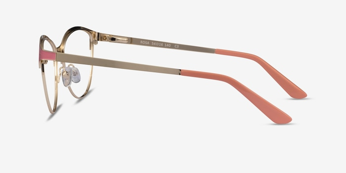 Rosa Gold Pink Metal Eyeglass Frames from EyeBuyDirect, Side View