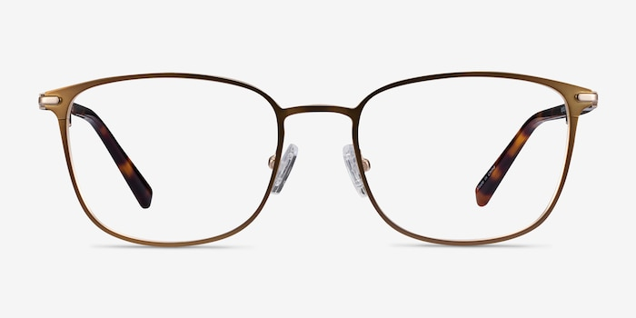 River Bronze & Gold Acetate Eyeglass Frames from EyeBuyDirect, Front View