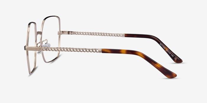 Bettina Silver Metal Eyeglass Frames from EyeBuyDirect, Side View