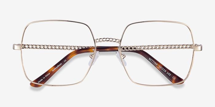 Bettina Argenté Métal Montures de Lunette de vue d'EyeBuyDirect, Vue Rapprochée