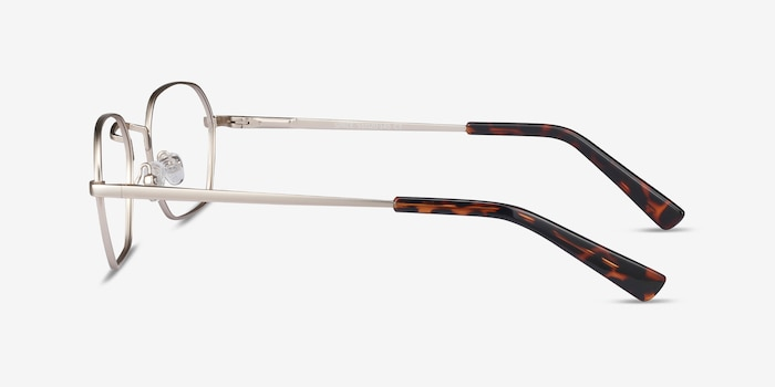 Space Gold Metal Eyeglass Frames from EyeBuyDirect, Side View