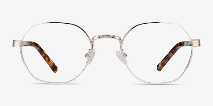 Fantasy Gold Acetate-metal Eyeglass Frames from EyeBuyDirect, Front View