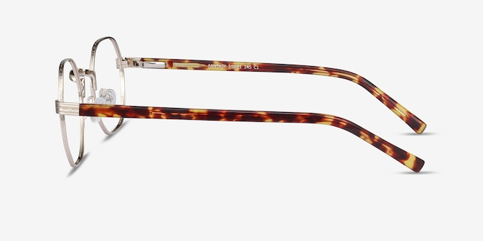 Fantasy Gold Acetate-metal Eyeglass Frames from EyeBuyDirect, Side View