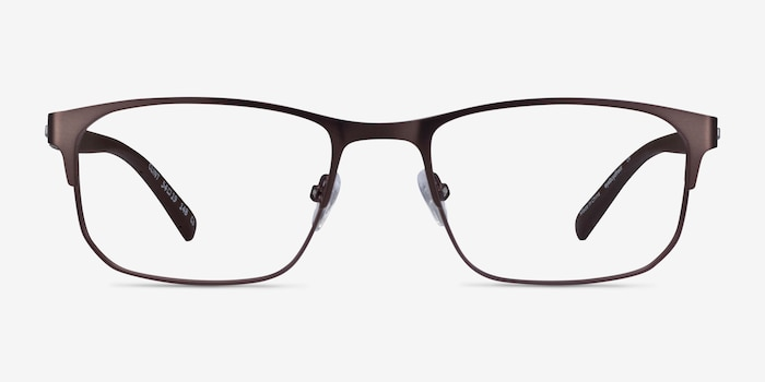 Clint Brown Carbon-fiber Eyeglass Frames from EyeBuyDirect, Front View