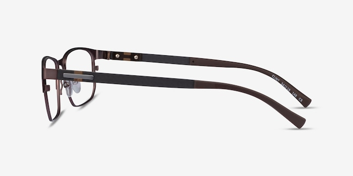 Clint Brown Carbon-fiber Eyeglass Frames from EyeBuyDirect, Side View