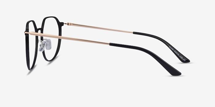 Alum Black & Gold Aluminium-alloy Eyeglass Frames from EyeBuyDirect, Side View