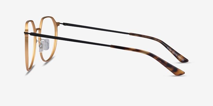 Alum Gold & Black Aluminium-alloy Eyeglass Frames from EyeBuyDirect, Side View