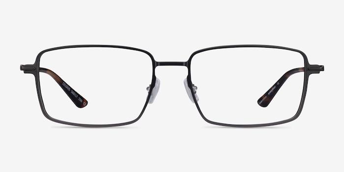 Celsius Gunmetal Aluminium-alloy Eyeglass Frames from EyeBuyDirect, Front View