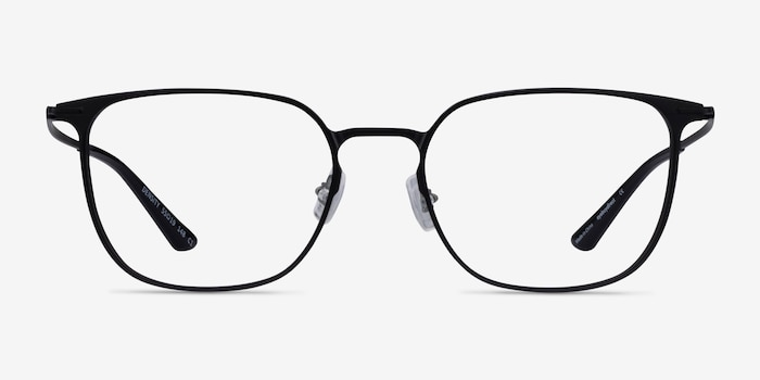 Density Black Aluminium-alloy Eyeglass Frames from EyeBuyDirect, Front View