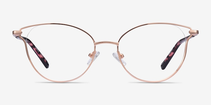 Trance Rose Gold Metal Eyeglass Frames from EyeBuyDirect, Front View