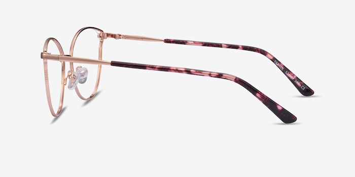 Trance Rose Gold Metal Eyeglass Frames from EyeBuyDirect, Side View