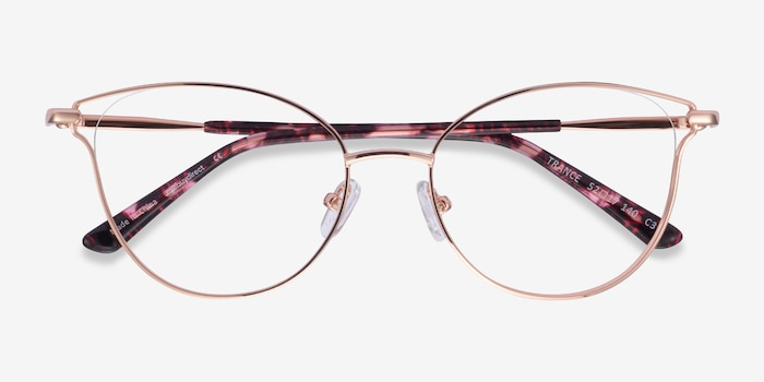 Trance Rose Gold Metal Eyeglass Frames from EyeBuyDirect, Closed View