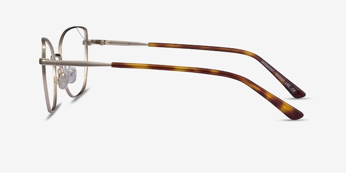 Moment Light Gold Metal Eyeglass Frames from EyeBuyDirect, Side View