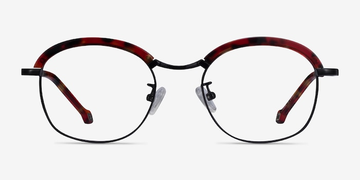 Ochoa Red Tortoise  Gold Acetate-metal Eyeglass Frames from EyeBuyDirect, Front View