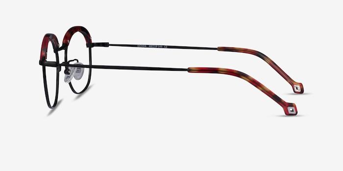 Ochoa Red Tortoise  Gold Acetate-metal Eyeglass Frames from EyeBuyDirect, Side View