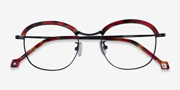 Ochoa Red Tortoise  Gold Acetate-metal Eyeglass Frames from EyeBuyDirect, Closed View
