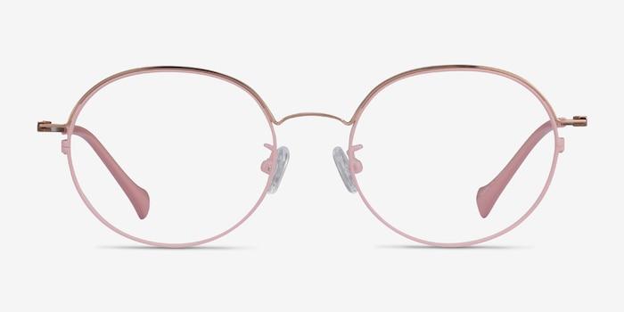 Patel Pink  Rose Gold Métal Montures de Lunette de vue d'EyeBuyDirect, Vue de Face
