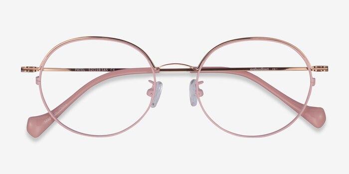Patel Pink  Rose Gold Métal Montures de Lunette de vue d'EyeBuyDirect, Vue Rapprochée