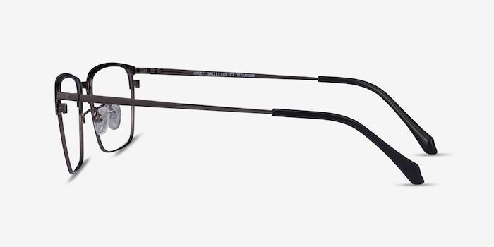 Amet Black  Gunmetal Metal Eyeglass Frames from EyeBuyDirect, Side View