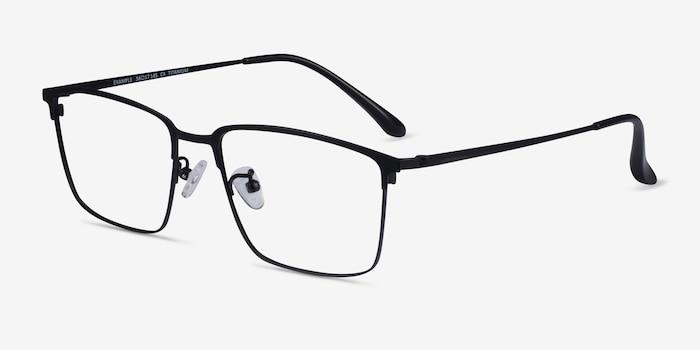 Example Black Metal Eyeglass Frames from EyeBuyDirect, Angle View