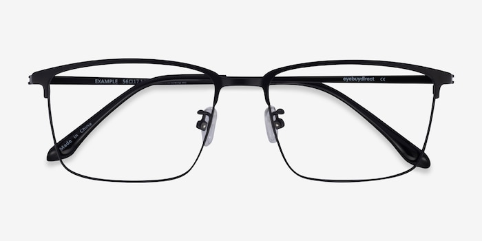 Example Black Metal Eyeglass Frames from EyeBuyDirect, Closed View