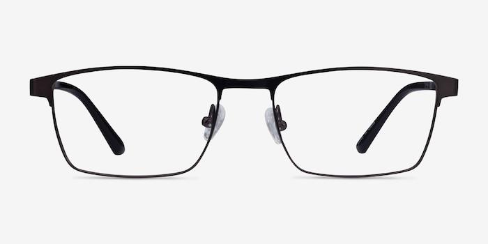 Davis Black Plastic-metal Eyeglass Frames from EyeBuyDirect, Front View