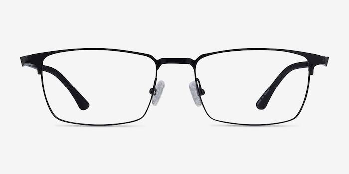 Evans Black Plastic-metal Eyeglass Frames from EyeBuyDirect, Front View