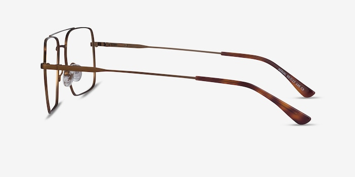 Aerial Bronze Metal Eyeglass Frames from EyeBuyDirect, Side View