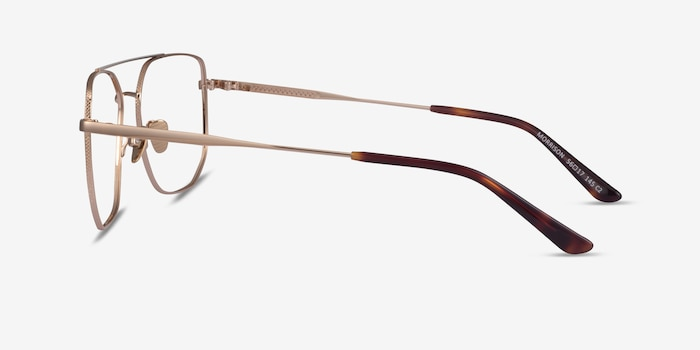 Morrison Gold Metal Eyeglass Frames from EyeBuyDirect, Side View