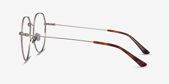 Emotion Silver Metal Eyeglass Frames from EyeBuyDirect, Side View