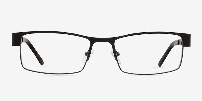 Blaise Black Metal Eyeglass Frames from EyeBuyDirect, Front View