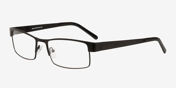 Blaise Black Metal Eyeglass Frames from EyeBuyDirect, Angle View